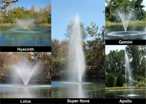 WaterSmith pond fountain Deluxe 5 Pattern Package