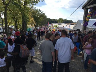 Crowds at the Fish & Shrimp festival at Freshwater Farms of Ohio