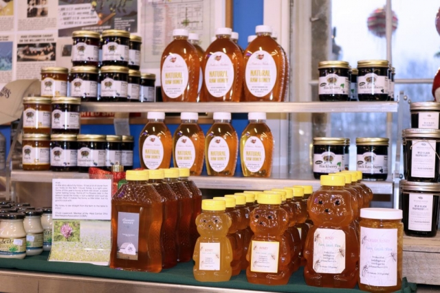 Honey Produced locally by Nate's Nectar and Ladybug Acres