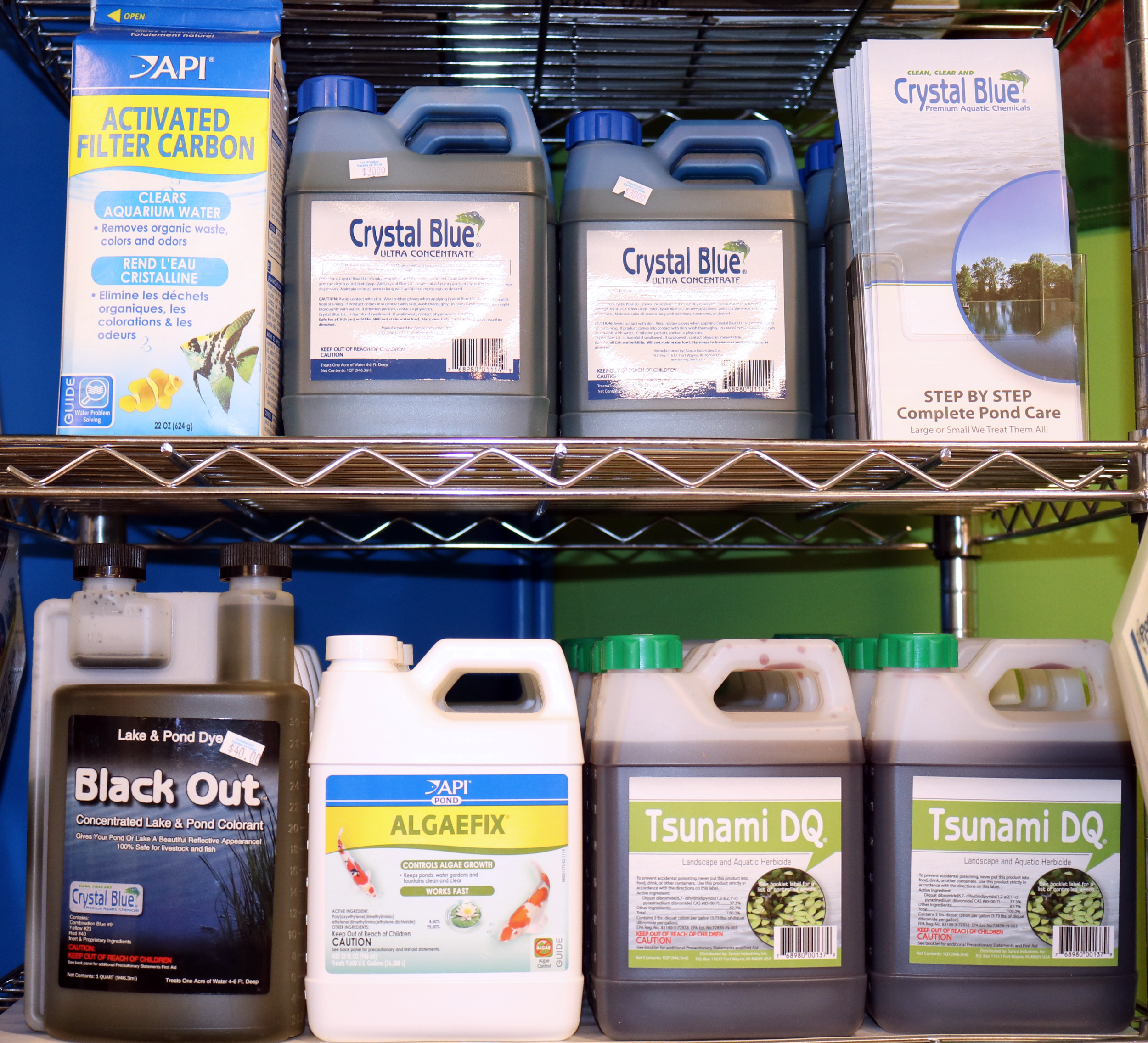 pond dyes and natural treatments to help control algea