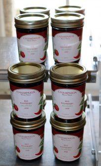 red rasberry jalapeno jam