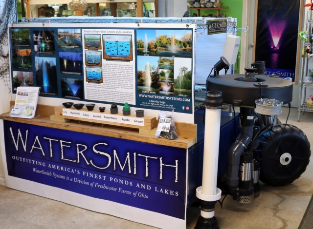 watersmith Fountains -- decorative aeration for large ponds and lakes