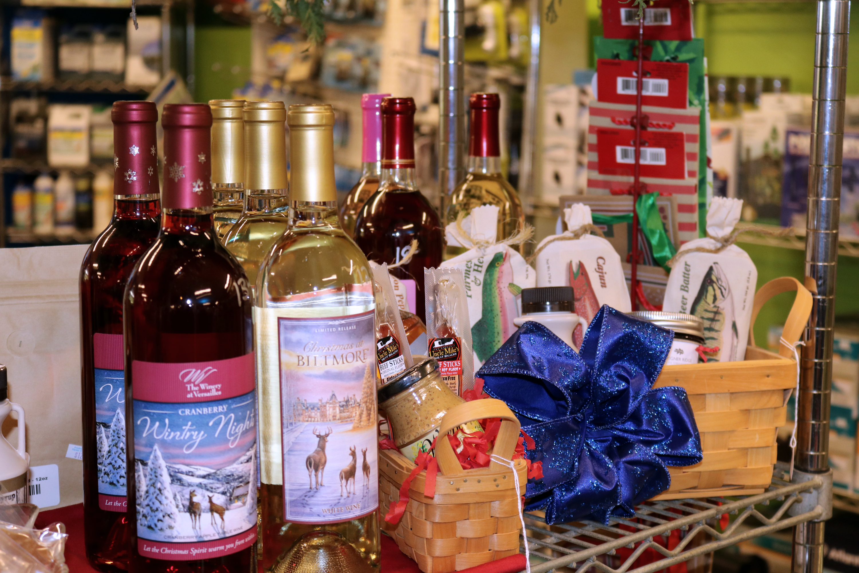 wine & gift basket display