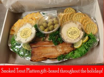 gift boxed smoked trout