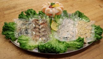 raw shrimp platter
