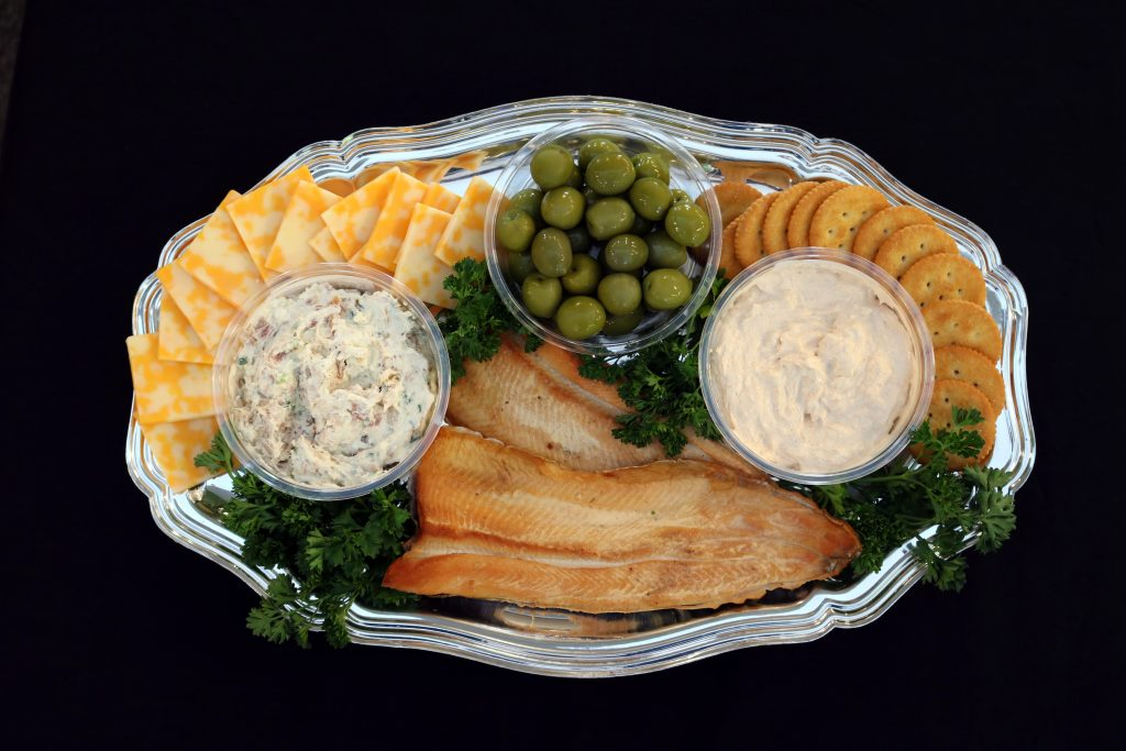 smoked trout holiday platter