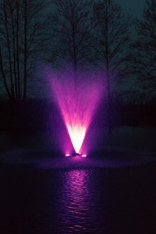 2hp WaterSmith fountain with 108w light kit and gemini nozzle pattern