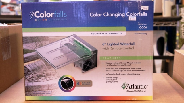 Atlantic color falls 6 in lighted waterfall with remote control