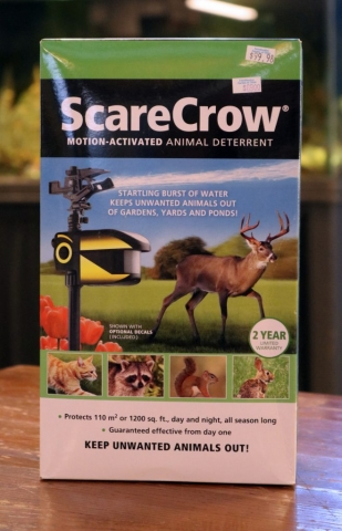 ScareCrow motion-activated animal deterent