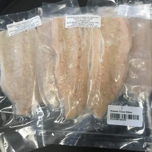 skinless trout fillets