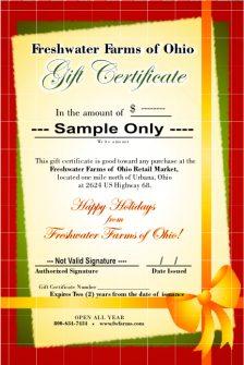 sample christmas gift certificate