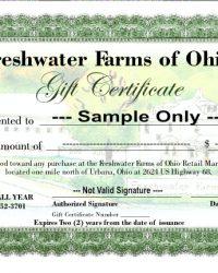 sample standard gift certificate
