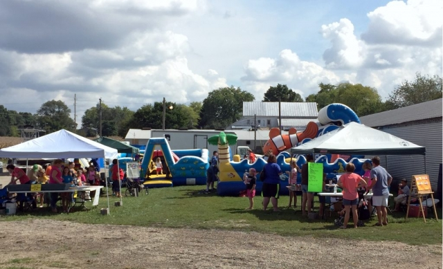 play area bounce houses